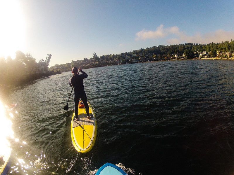 Paddleboarding at Shileshole with Surf Ballard